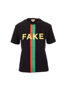 Gucci - Fake/Not Gucci Kids print t-shirt in black