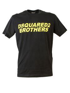 Dsquared2 - T-shirt Dsquared2 Brothers nera