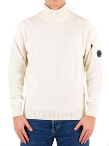 CP Company - Branded turtleneck in white