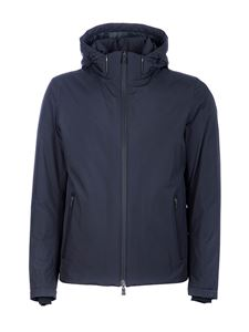 Herno - Padded hooded jacket in blue