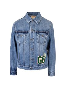 Gucci - Gucci Kids GG tennis jeans jacket in blue