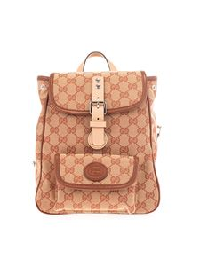 Gucci - GG Gucci Kids backpack in beige and red
