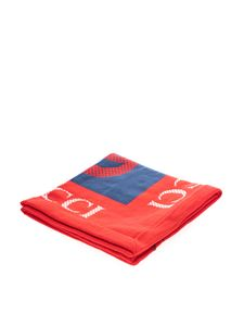 Gucci - GG Gucci Kids blanket in blue and red