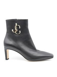 Jimmy Choo - Heeled leather ankle boots in black