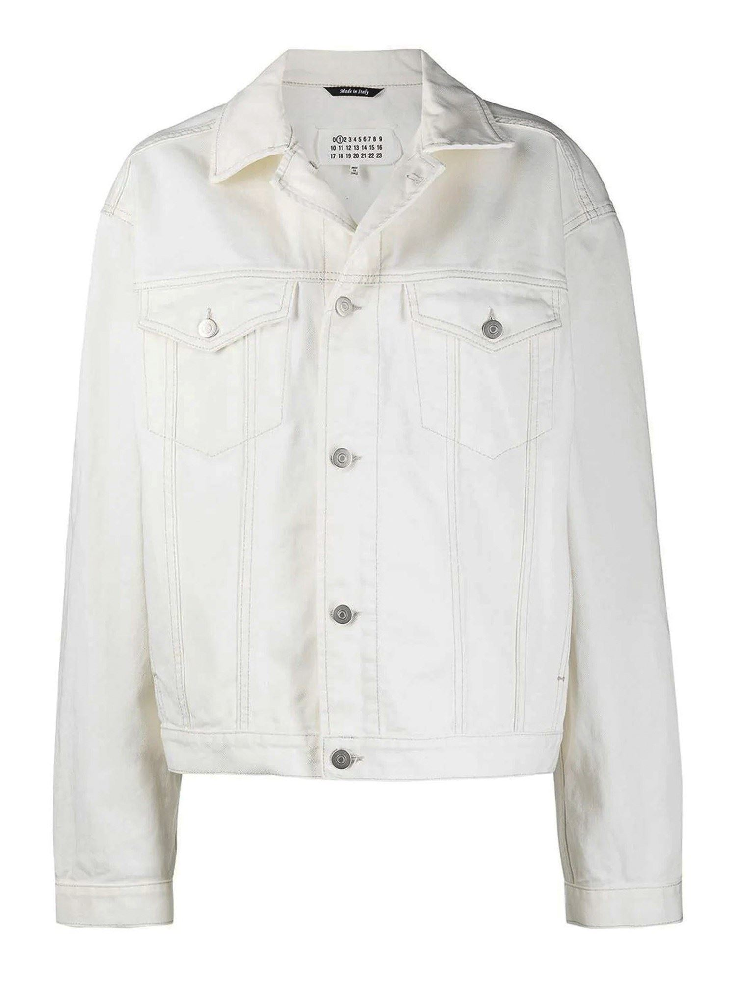 Maison Margiela DENIM JACKET IN WHITE