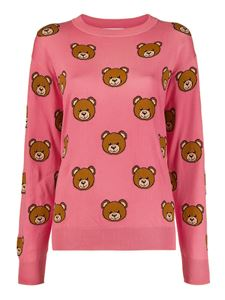 Moschino - Teddy Bear intarsia jumper in pink