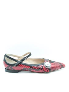 Paula Cademartori - Python leather flats in red