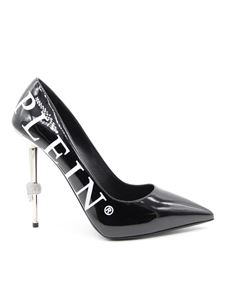 Philipp Plein - Branded patent leather pumps in black