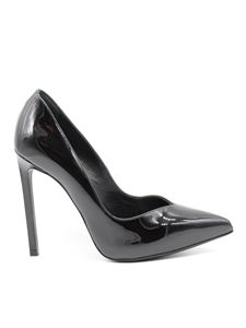 Saint Laurent - Paris 105 patent leather pumps in black