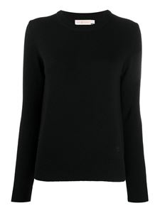 Tory Burch - Pull in cashmere con paillettes nera
