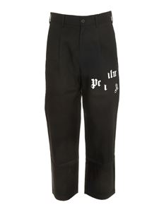 Palm Angels - Broken Logo Chinos in black