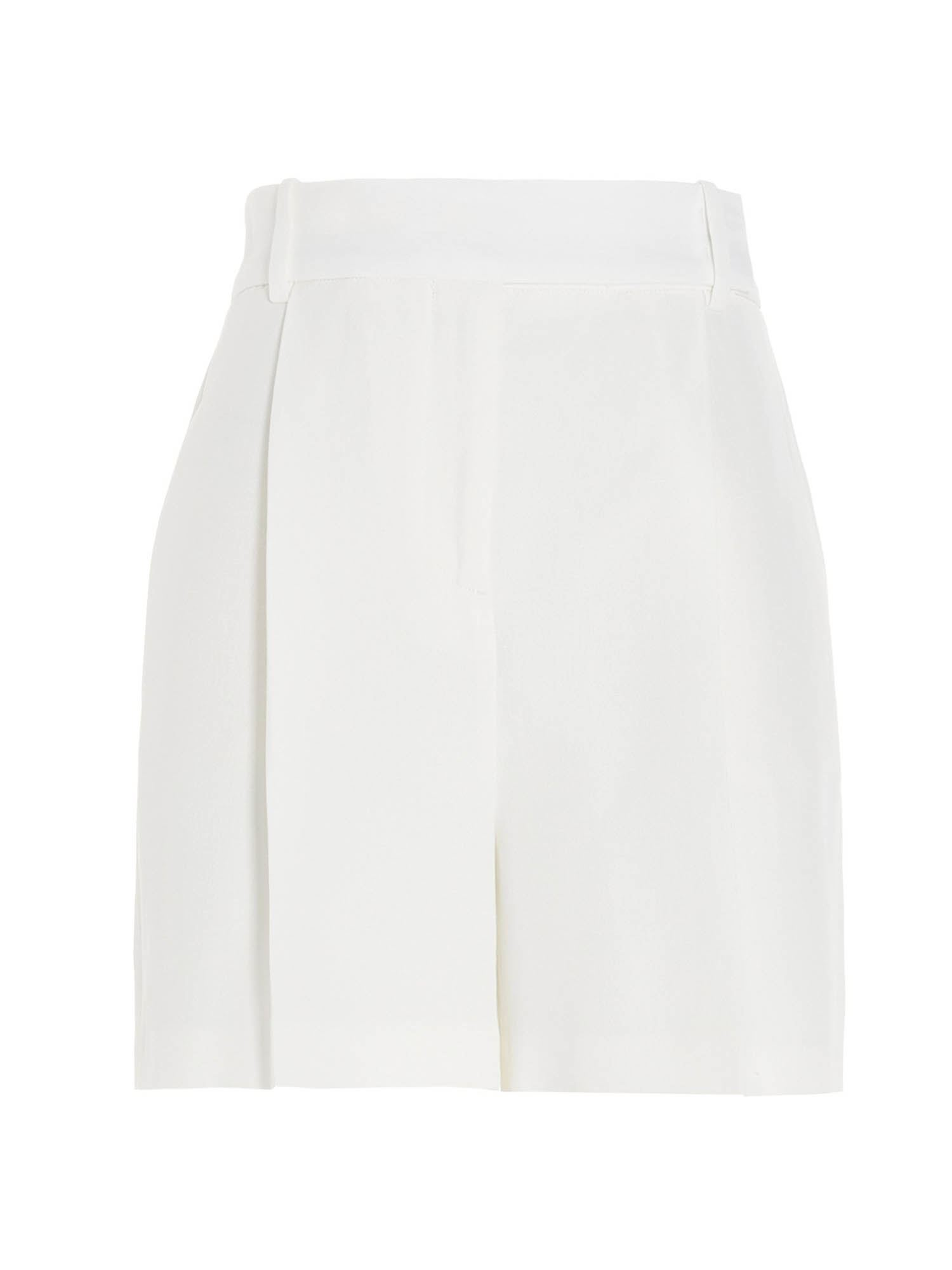 Ermanno Scervino LINEN BLEND SHORTS IN WHITE