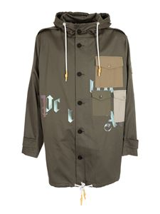 Palm Angels - Military parka in green