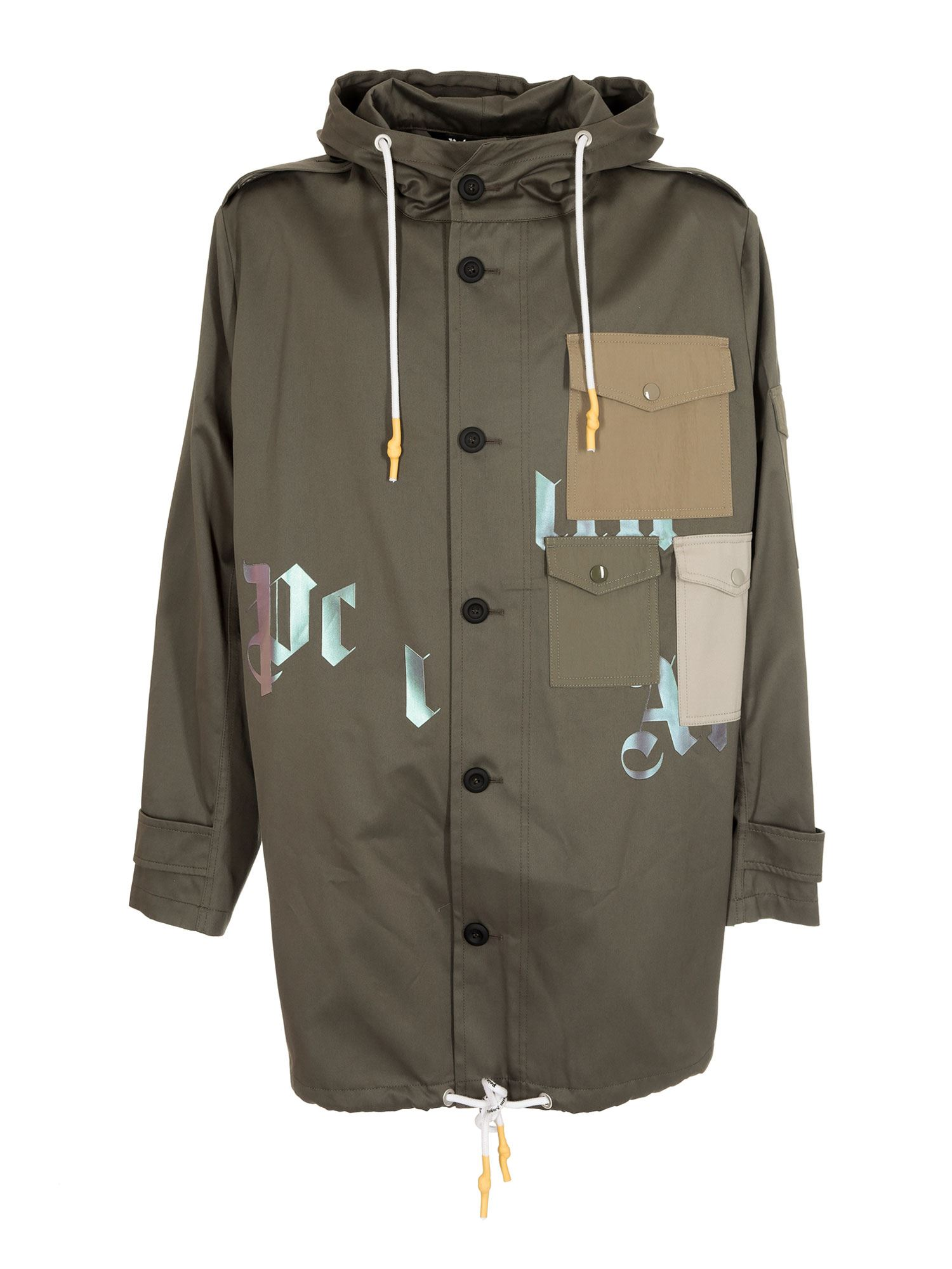Palm Angels MILITARY PARKA IN GREEN