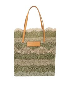 Ermanno Scervino - Seeds of Love shopping bag in beige and green