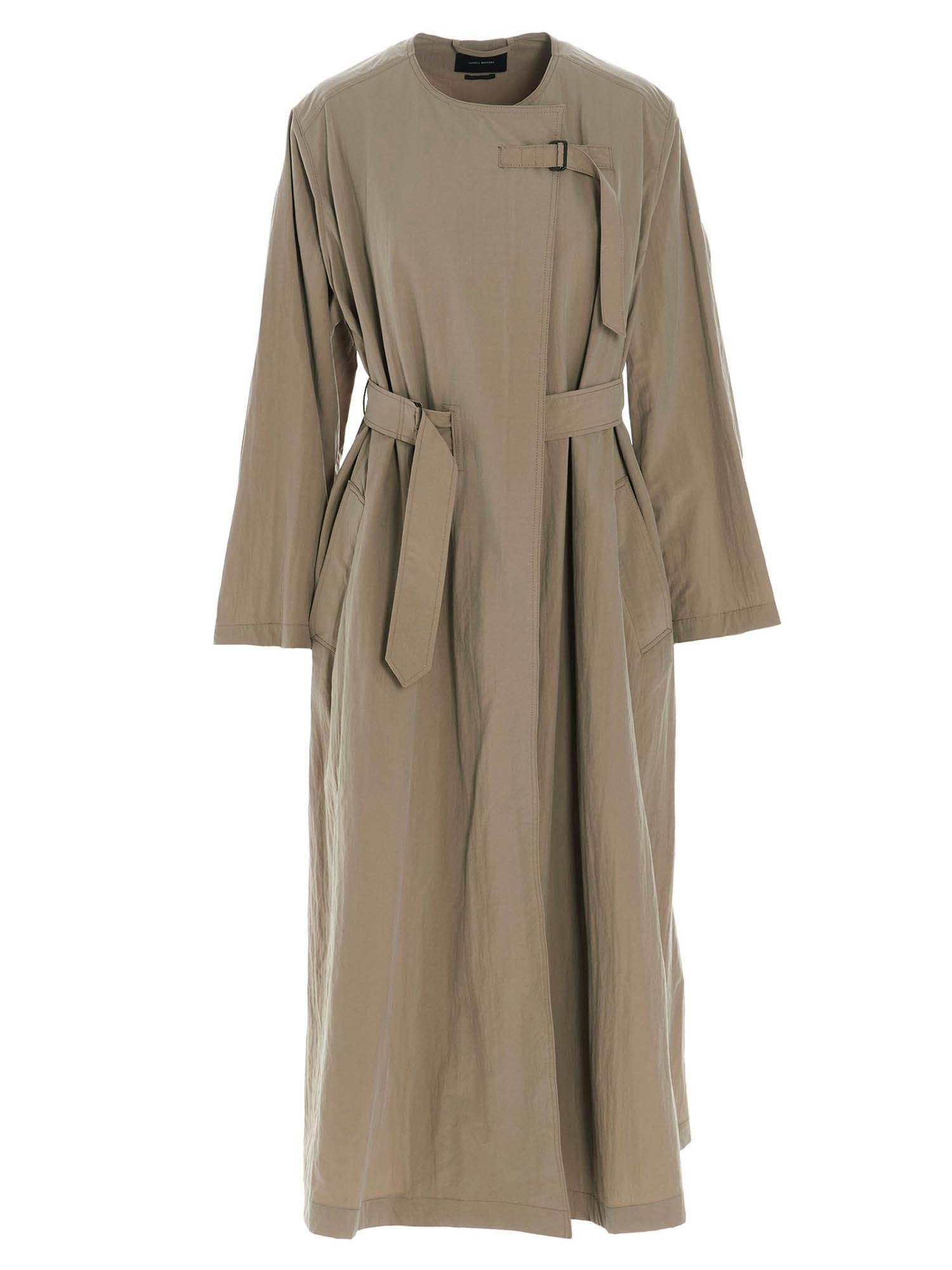 Isabel Marant ISABEL MARANT ILIFAWN TRENCH COAT IN BEIGE