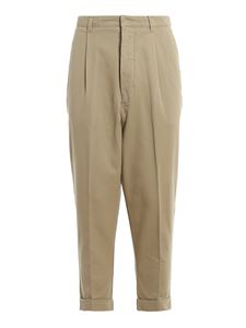 Ami Alexandre Mattiussi - Cotton twill pants in beige