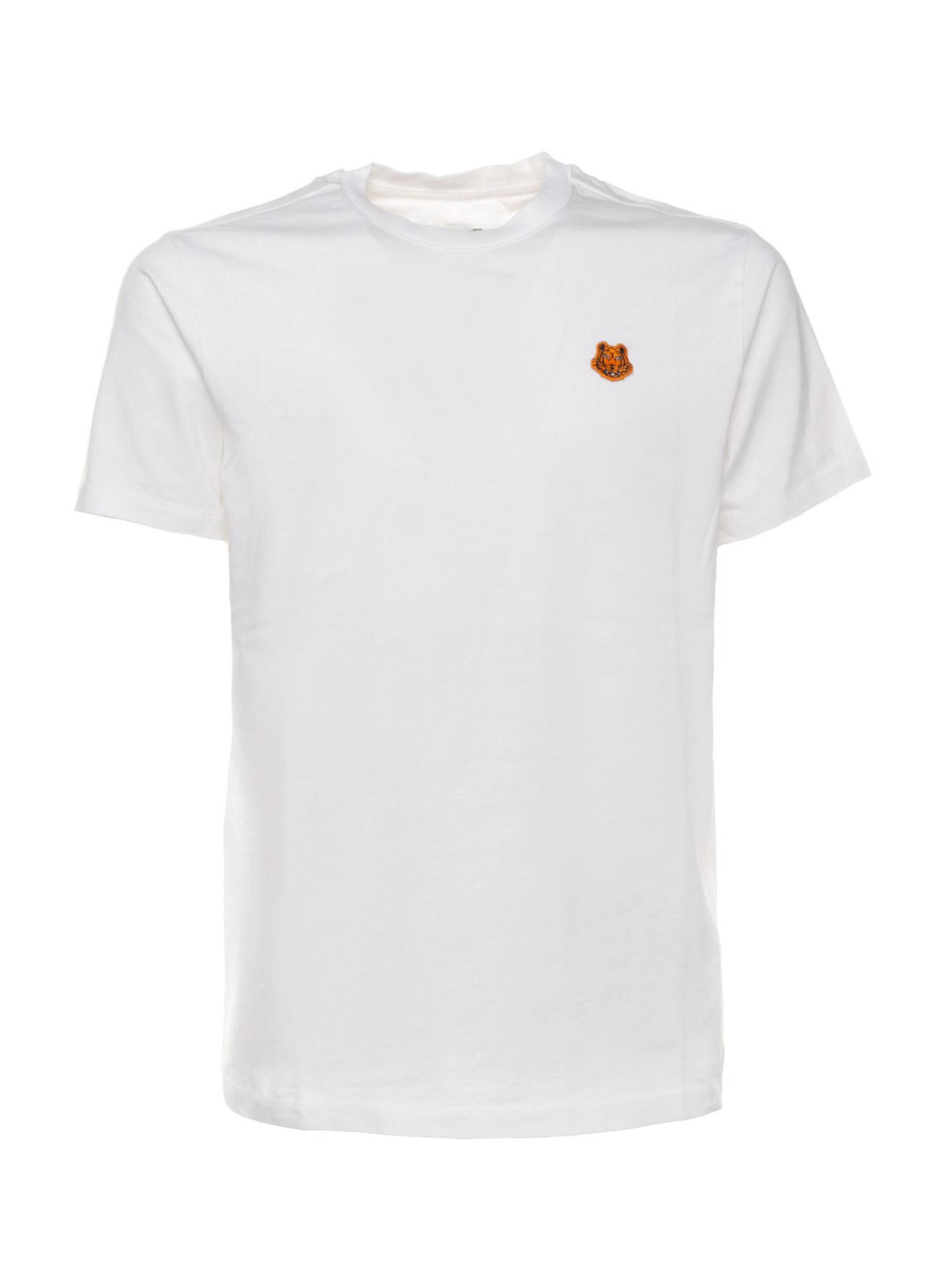 Kenzo TIGER CREST T-SHIRT IN WHITE