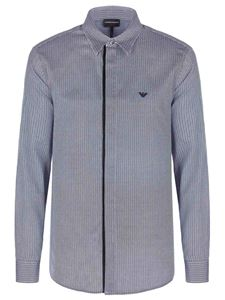 Emporio Armani - Embroidered logo shirt in blue