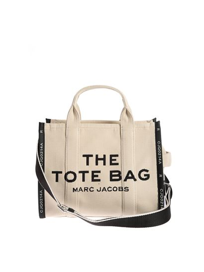 Marc Jacobs Spring Summer 2021 small travel tote bag in beige ...