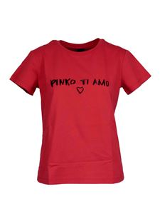 Pinko - Pinko Ti Amo printed T-shirt in red