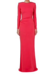 Elisabetta Franchi - Low neck Mermaid dress in pink