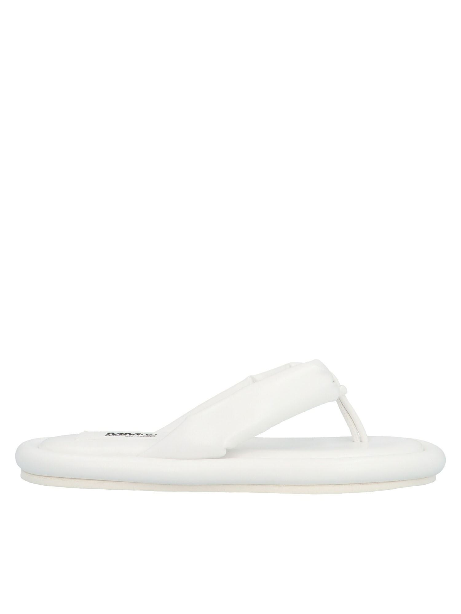 Mm6 Maison Margiela JAPANESE PADDED SANDALS IN WHITE
