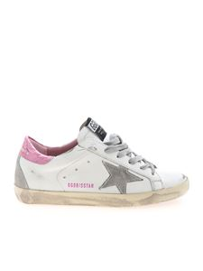 Golden Goose - Superstar Classic sneakers in white and pink
