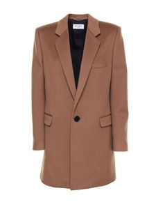 Saint Laurent - Wool coat in brown