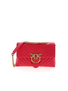 Pinko - Love Lady Puff V Quilt shoulder bag in red