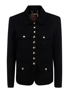 Chloé - Crêpe military style jacket in black