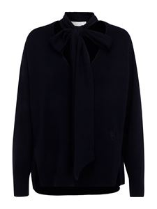 Chloé - Draped detail sweater in blue