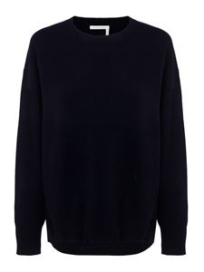 Chloé - Pure cashmere sweater in blue