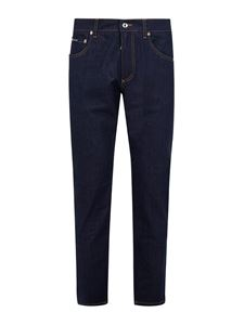 Dolce & Gabbana - Five pocket straight leg jeans in blue