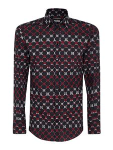 Dolce & Gabbana - Fit gold multicolor printed shirt
