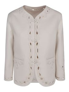 Ermanno Scervino - Embroidered wool jacket in white