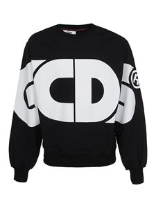 GCDS - Oversized cotton sweatshirt in black