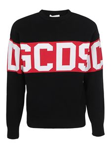 GCDS - Cotton blend sweater in black