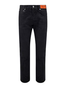 Heron Preston - Straight leg jeans in black
