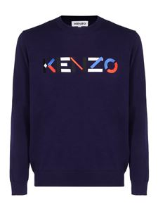 Kenzo - Multicoloured logo sweatshirt in blue