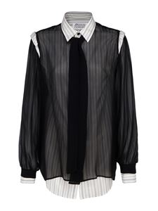 Maison Margiela - Silk and viscose shirt in black