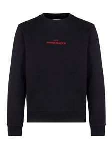 Maison Margiela - Logo embroidery sweatshirt in black