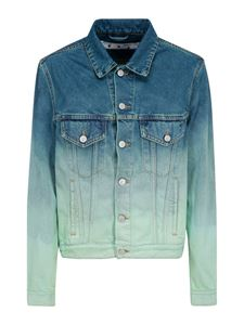 Off-White - Faded effect denim jacket in light blue