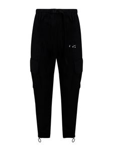 Off-White - Logo print cargo pants in black