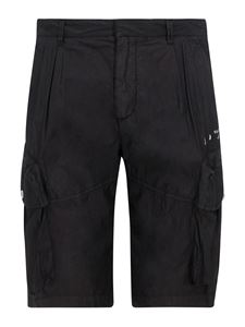 Off-White - Cargo bermuda shorts in black