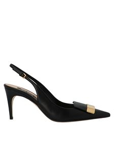 Sergio Rossi - Pointed slingbacks in black