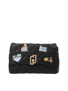 Liujo - Quilted decoration bag in black