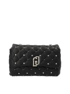 Liujo - Micro studs quilted bag in black