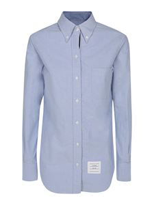 Thom Browne - Cotton poplin shirt in light blue