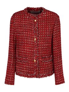 Valentino - Tweed wool-lurex blend jacket in red